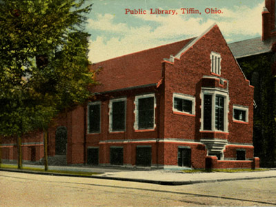 Carnege Library Postcard Tiffin, Ohio
